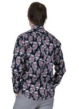 Load image into Gallery viewer, Navy Paisley Long Sleeve Shirt - GIAN LONDON