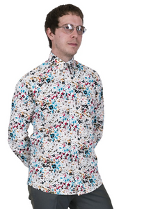 Multi Colour Spiral Pattern Long Sleeve Shirt - GIAN LONDON