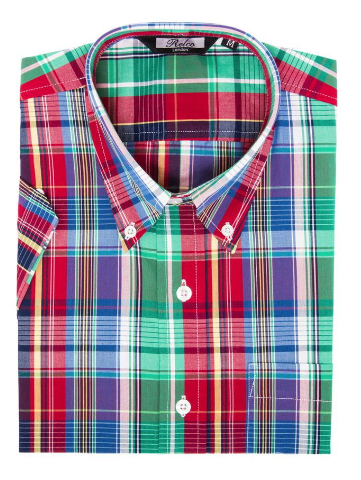 Multi-Coloured Check Short Sleeve Shirt - GIAN LONDON