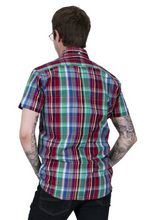 Load image into Gallery viewer, Multi-Coloured Check Short Sleeve Shirt - GIAN LONDON