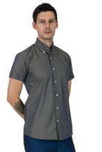 Load image into Gallery viewer, Gold Two Tone Tonic Short Sleeve Shirt - GIAN LONDON