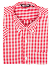 Load image into Gallery viewer, Red Gingham Check Short Sleeve Shirt - GIAN LONDON