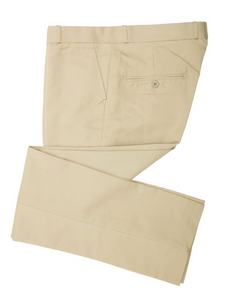 Khaki Sta Press Trousers - GIAN LONDON