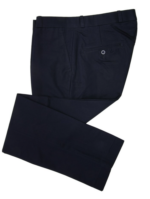 Navy Sta Press Trousers - GIAN LONDON