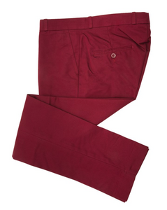 Burgundy Sta Press Trousers - GIAN LONDON