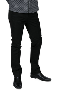 Black Sta Press Trousers - GIAN LONDON