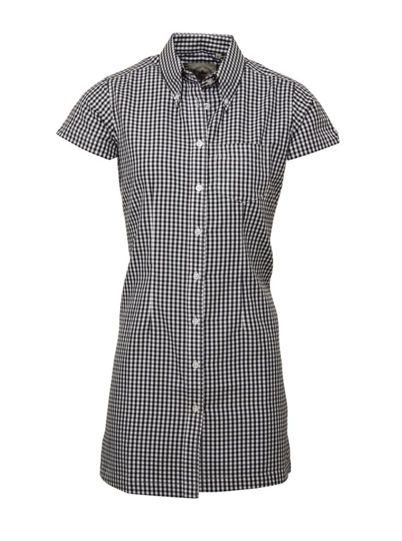 Gingham Black Long Dress Shirt - GIAN LONDON