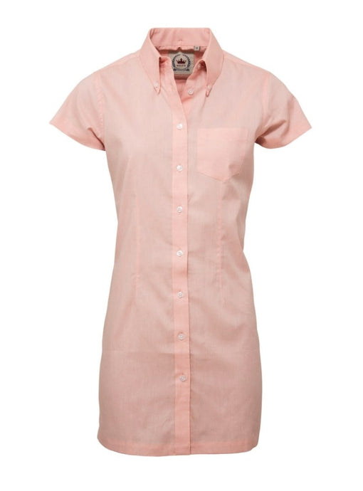Oxford Peach Long Dress Shirt - GIAN LONDON