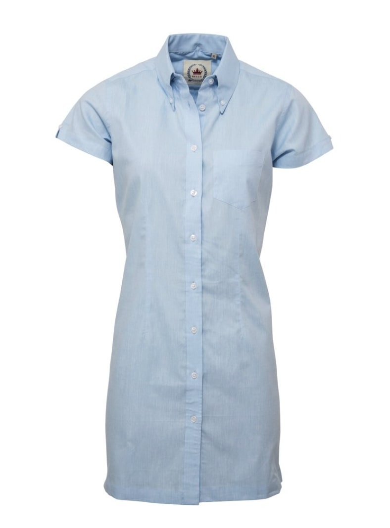 Oxford Blue Long Dress Shirt - GIAN LONDON