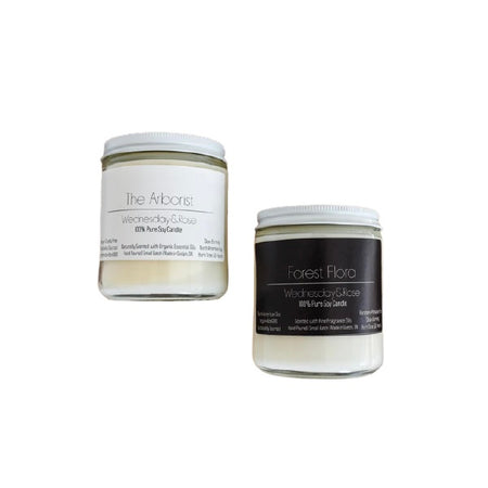 The Arborist Wednesday & Rose Pure Soy Candle