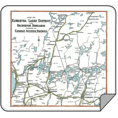 Kawartha Lakes Map Blanket - Lemon Water Wellness