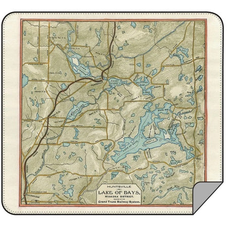 Lake of the Bays Map Blanket - Lemon Water Wellness