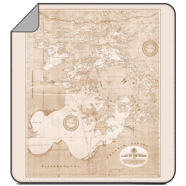 Lake of the Woods Map Blanket - Lemon Water Wellness
