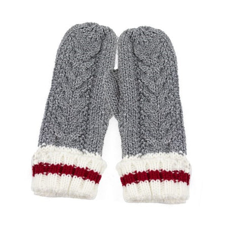 Mixed Grey Knitted Work Mittens