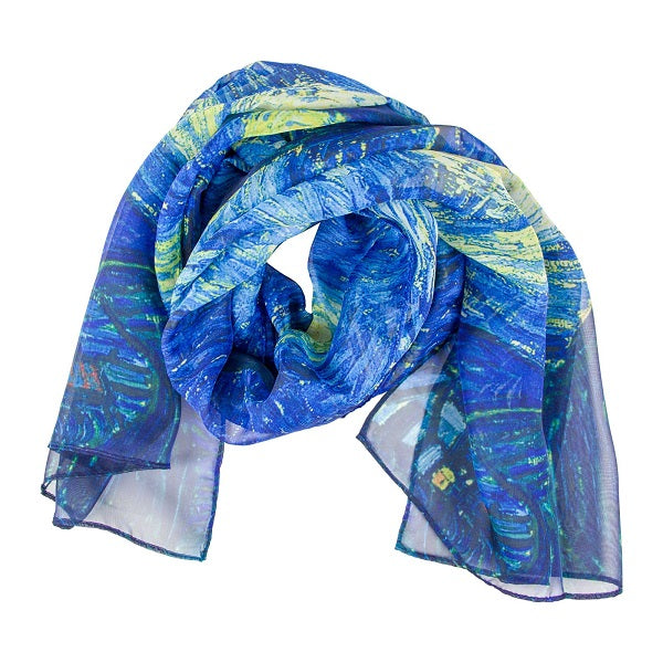 Van Gogh Starry Night Oil Painting Scarf