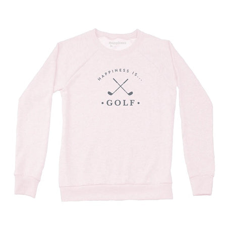 Women's Golf Crew Sweatshirt, Ballet Pink