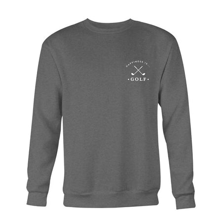 Men's Golf Crew Sweatshirt, Charcoal