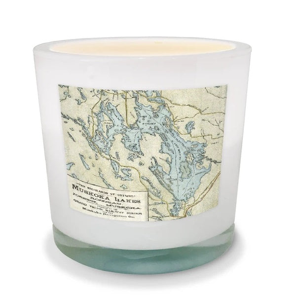 Lake Muskoka Map Candle