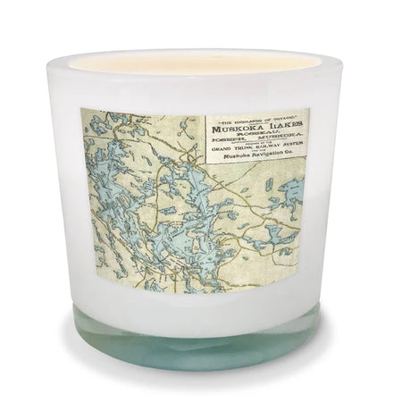 Lake Rosseau & Lake Joseph Map Candle