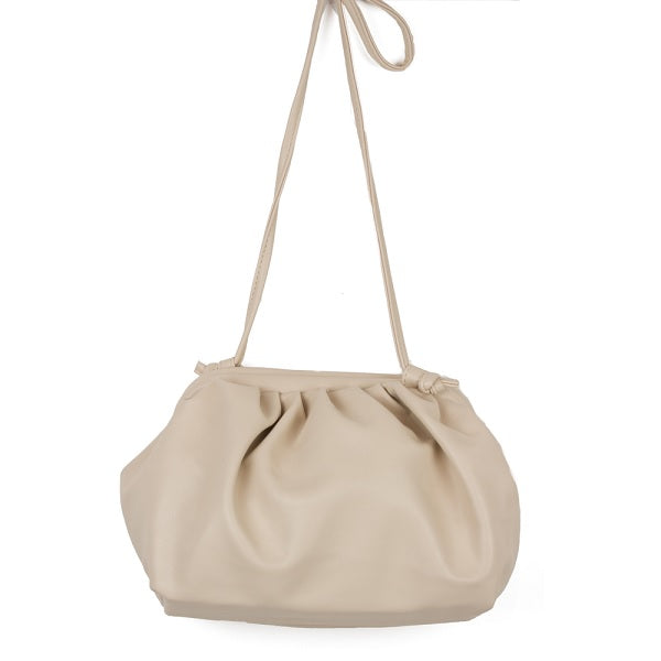 Taupe Plush Bubble Handbag