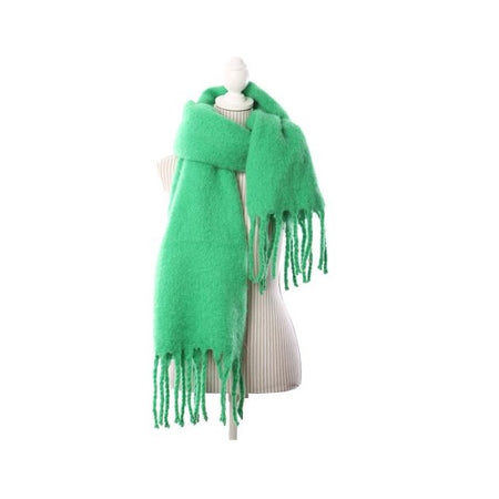 Bright Green Oversized Winter Scarf