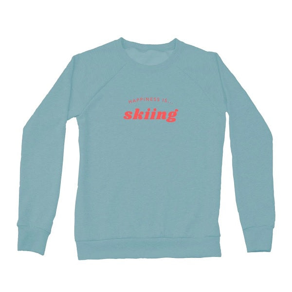 Women's Skiing Crew Sweatshirt, Teal
