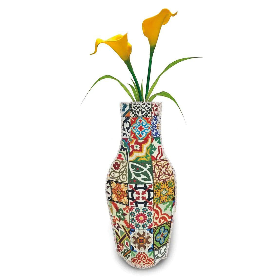 Barceloning Tiles Cotton Flower Vase-Boomingdutch
