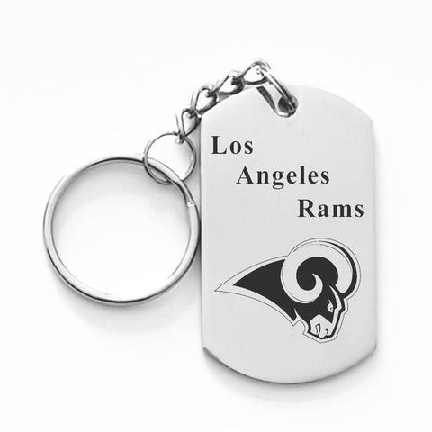 LOS ANGELES RAMS TITANIUM STEEL KEYCHAIN