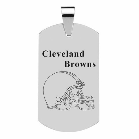 CLEVELAND BROWNS TITANIUM STEEL DOG TAG