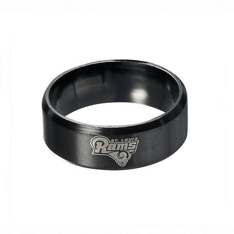 LIMITED EDITION LOS ANGELES RAMS TITANIUM STEEL RING