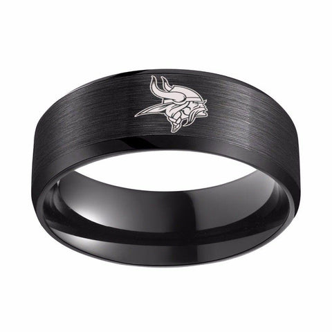 LIMITED EDITION MINNESOTA VIKINGS TITANIUM STEEL RING