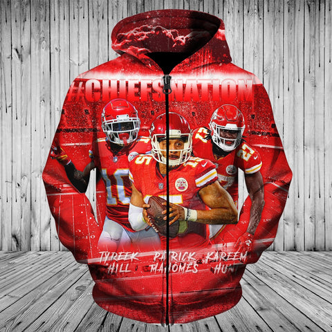 CHIEFS HOODIE 3D NATION