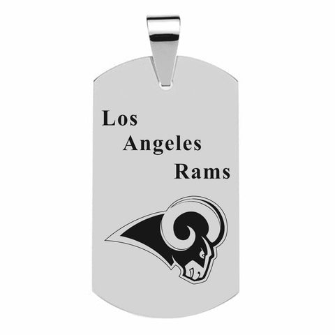 LOS ANGELES RAMS TITANIUM STEEL DOG TAG