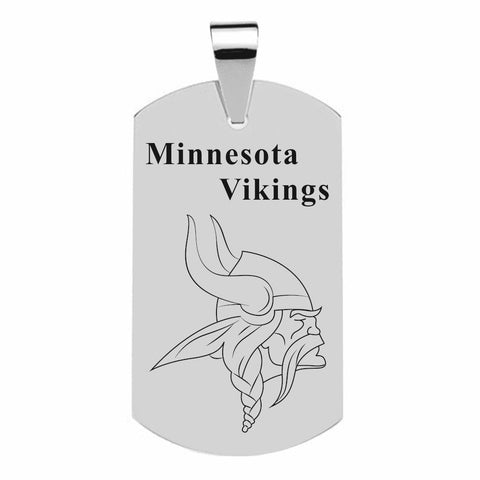 MINNESOTA VIKINGS TITANIUM STEEL DOG TAG