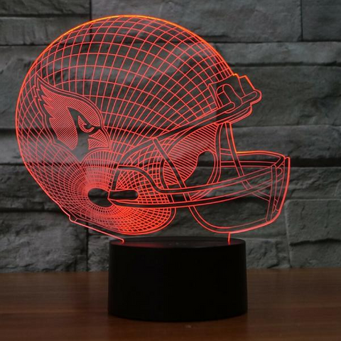 ARIZONA CARDINALS 3D LED LIGHT LAMP