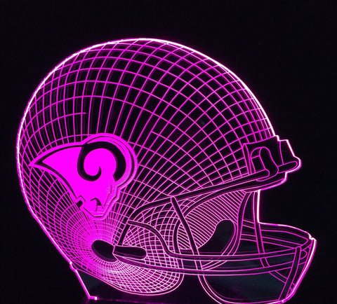 LOS ANGELES RAMS 3D LED LIGHT LAMP
