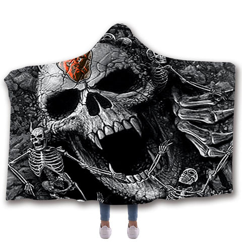 CLEVELAND BROWNS CLASSIC 3D HOODED BLANKET