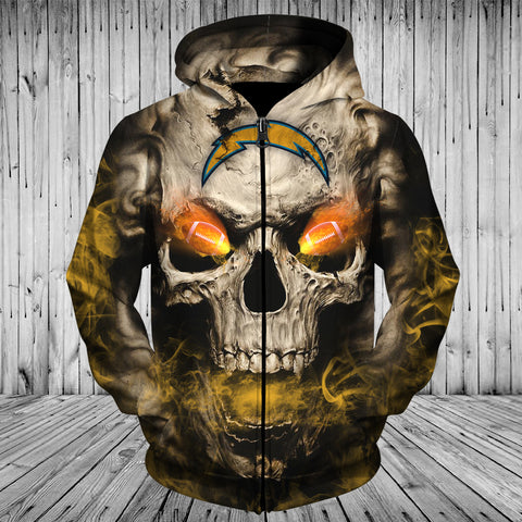 CHARGERS 3D HOODIE SKULL 06