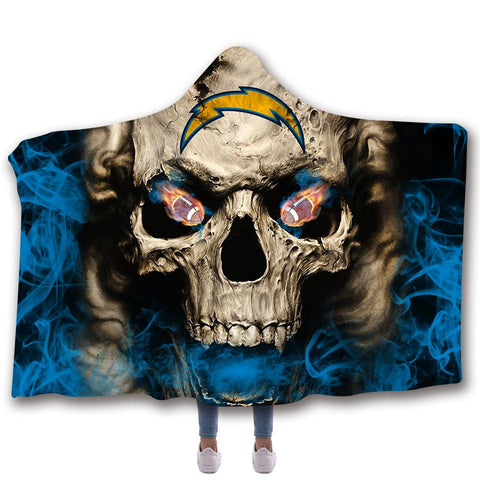 LOS ANGELES CHARGERS CLASSIC 3D HOODED BLANKET