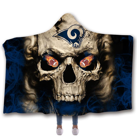 LOS ANGELES RAMS CLASSIC 3D HOODED BLANKET