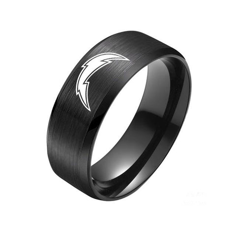 LIMITED EDITION LOS ANGELES CHARGERS TITANIUM STEEL RING