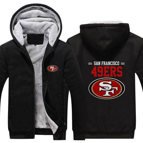 SAN FRANCISCO 49ERS CLASSIC WINTER HOODIE