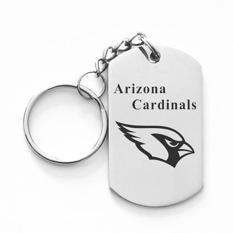 ARIZONA CARDINALS TITANIUM STEEL KEYCHAIN