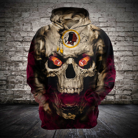 WASHINGTON REDSKINS MEN'S CLASSIC 3D HOODIE