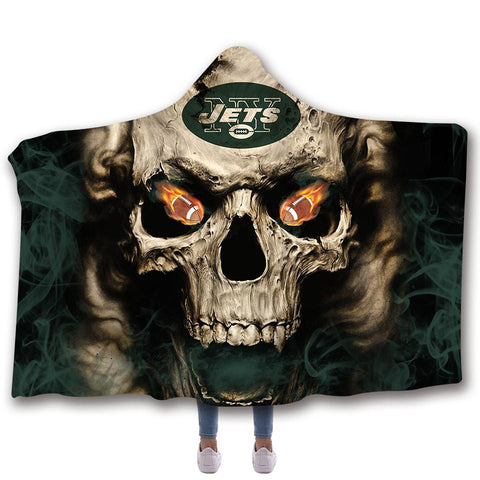 NEW YORK JETS CLASSIC 3D HOODED BLANKET