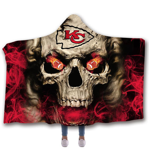 KANSAS CITY CHIEFS CLASSIC 3D HOODED BLANKET