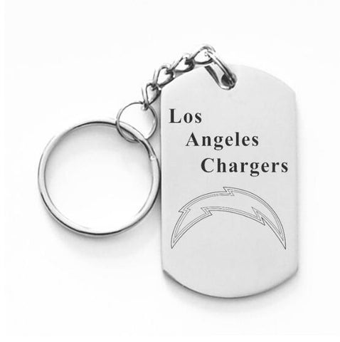 LOS ANGELES CHARGERS TITANIUM STEEL KEYCHAIN