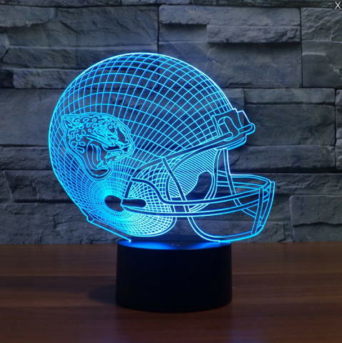 JACKSONVILLE JAGUARS 3D LED LIGHT LAMP