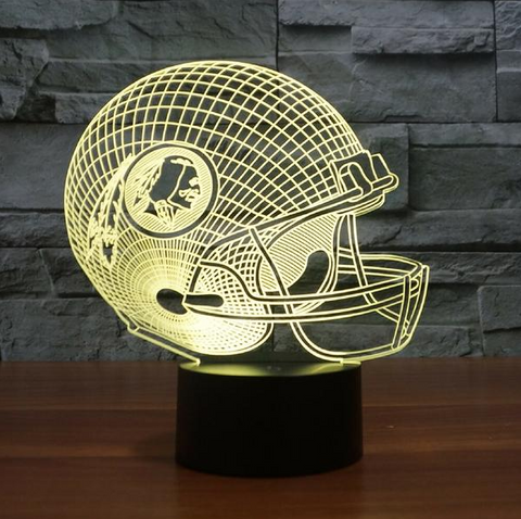 WASHINGTON REDSKINS 3D LED LIGHT LAMP