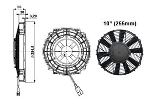 "Ventilateur Comex Slimline 10"" (255mm)"